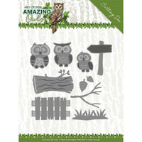 Find It Trading - Amy Design - Metal Die - Amazing Owls - Owl Family (ADD10217)