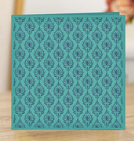 "Crafter's Companion - Embossing Folder 6""X6"" - Nature's Garden - Peacock - Plumage Panel (AEF6PP)"