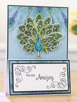 Crafter's Companion - Metal Die - Nature's Garden - Peacock -Proud of a Peacock (EASTDPAP)