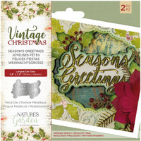 Crafter's Companion - Metal Die - Nature's Garden - Vintage Christmas - Season's Greetings (NMDSEAG)