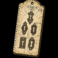 Graphic 45 - Ornate Metal Key Holes (G4500546)
