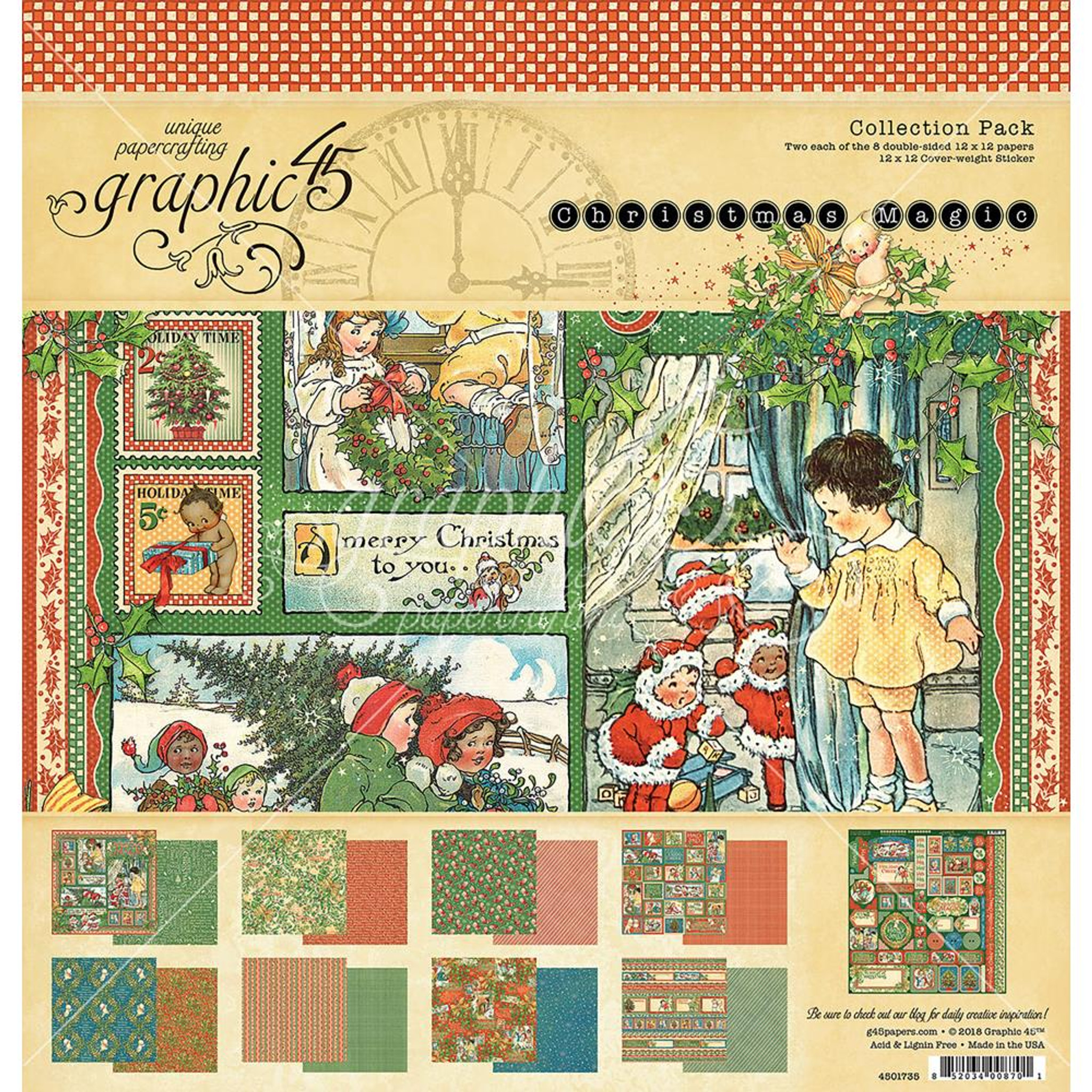 STICKER SHEET Graphic45 SUN KISSED COLLECTION PACK 12 x 12 Scrapbooking PAPER