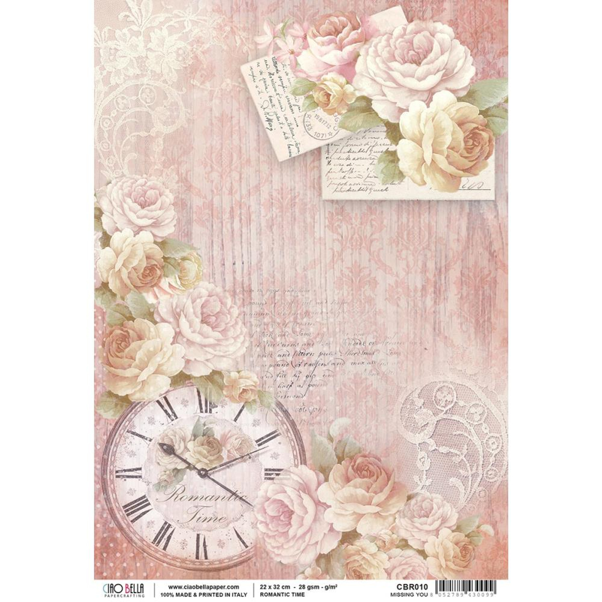 Scrapbooking Sheet New Baby Small Rice Paper for Decoupage