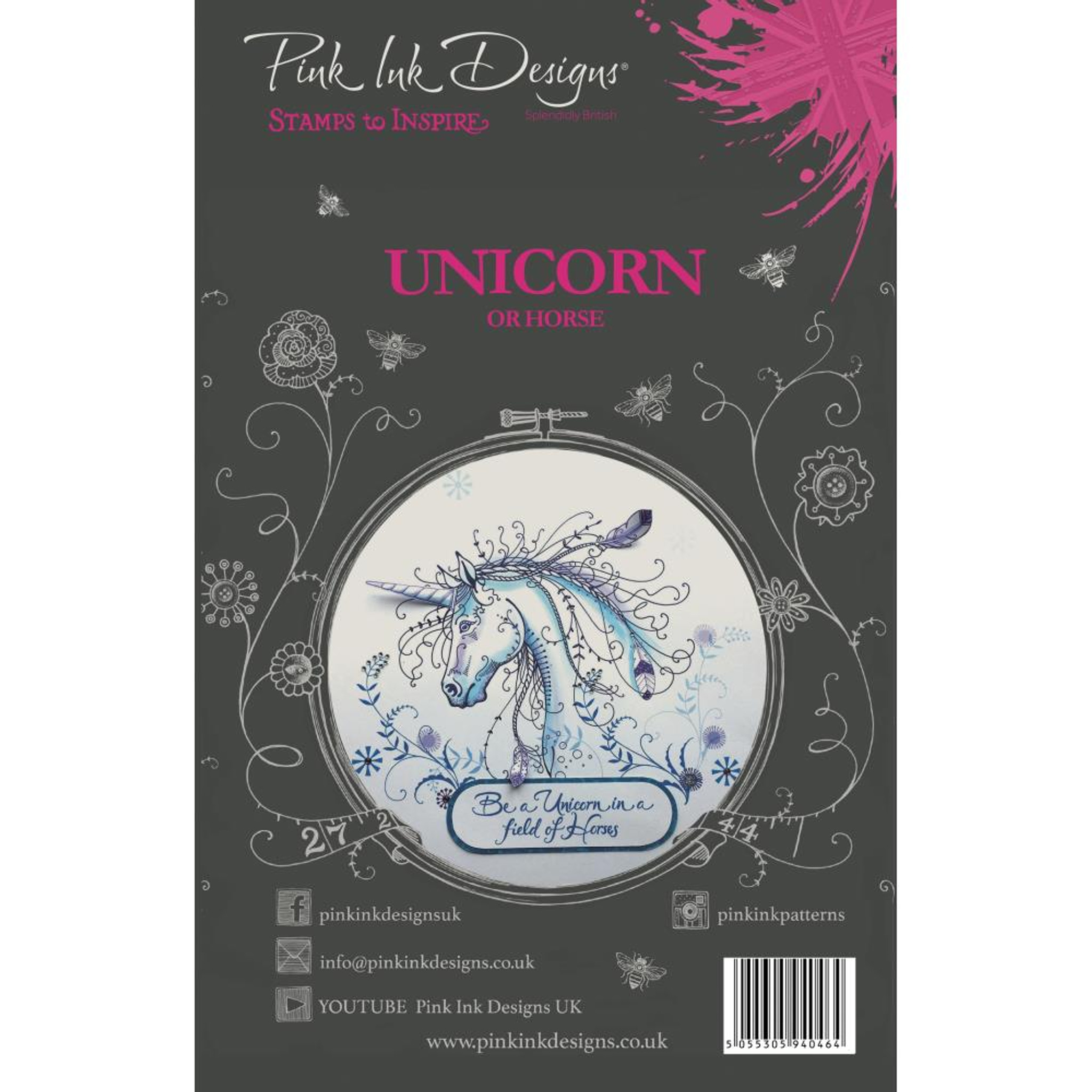 Pink Ink Designs Dragonfly Stamps to Inspire Clear Stamp Set PI005