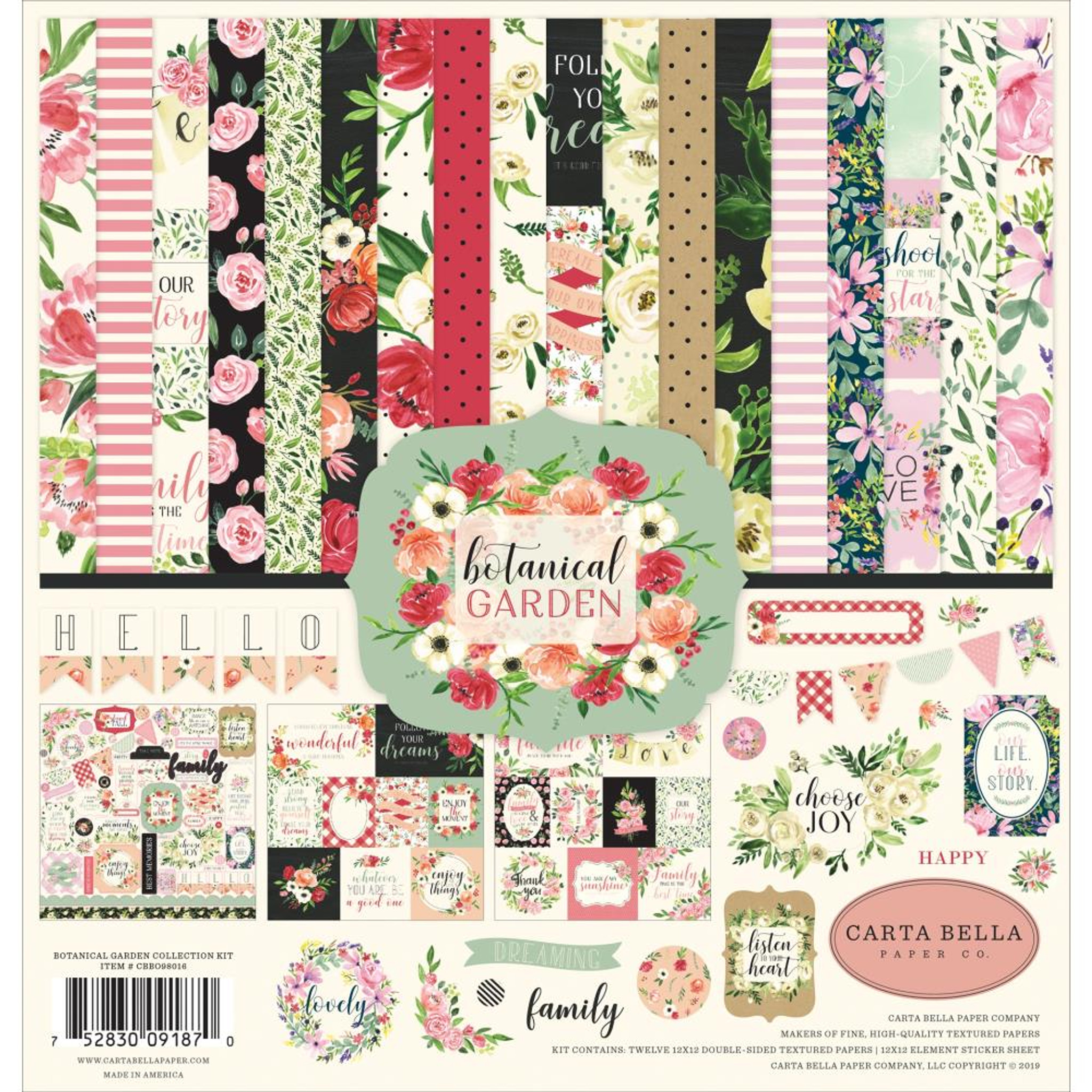 12x12 Borders-Boy Double-Sided Cardstock Paper Bella Blvd