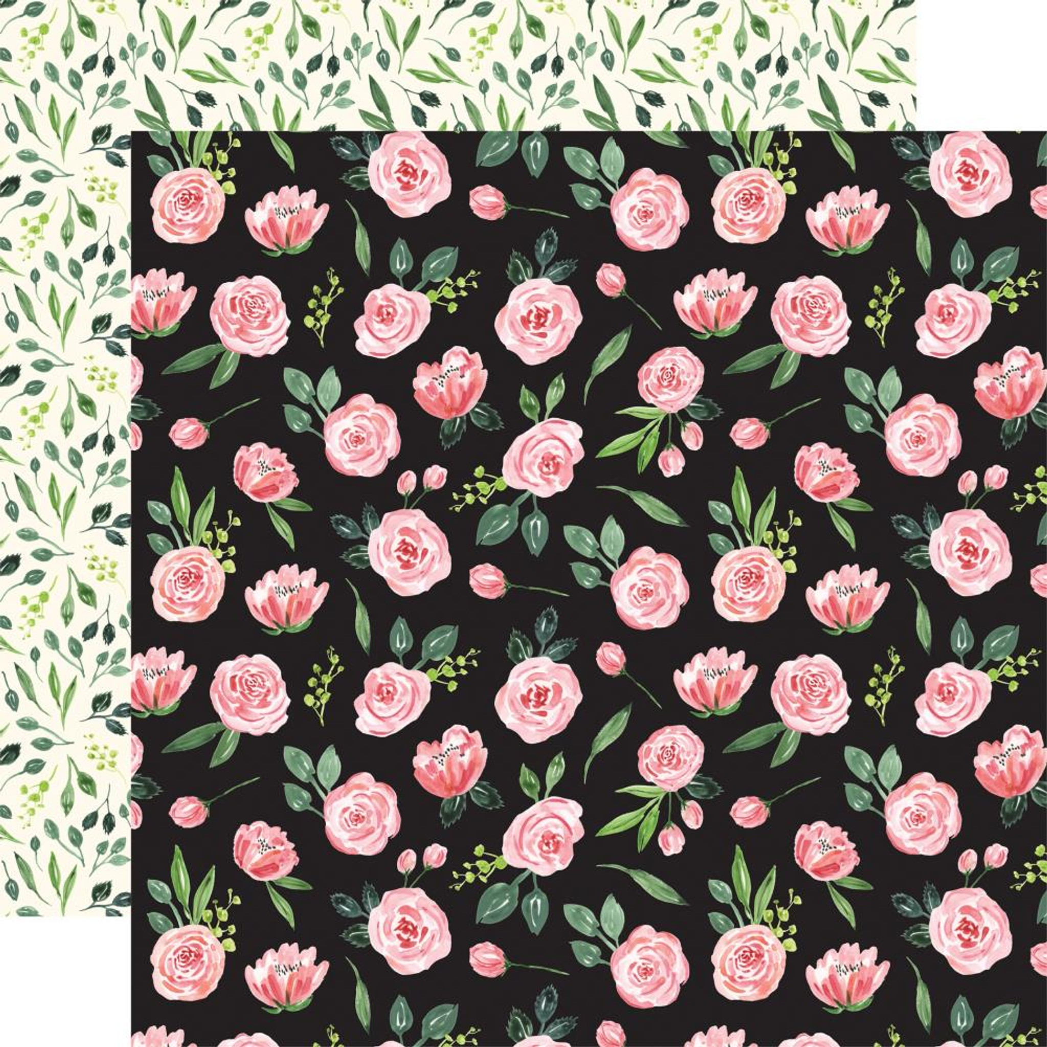 "12/"" x 12/"" Chic Country Floral Botanical Birthday Cardstock 48 Sheets Set of 3"