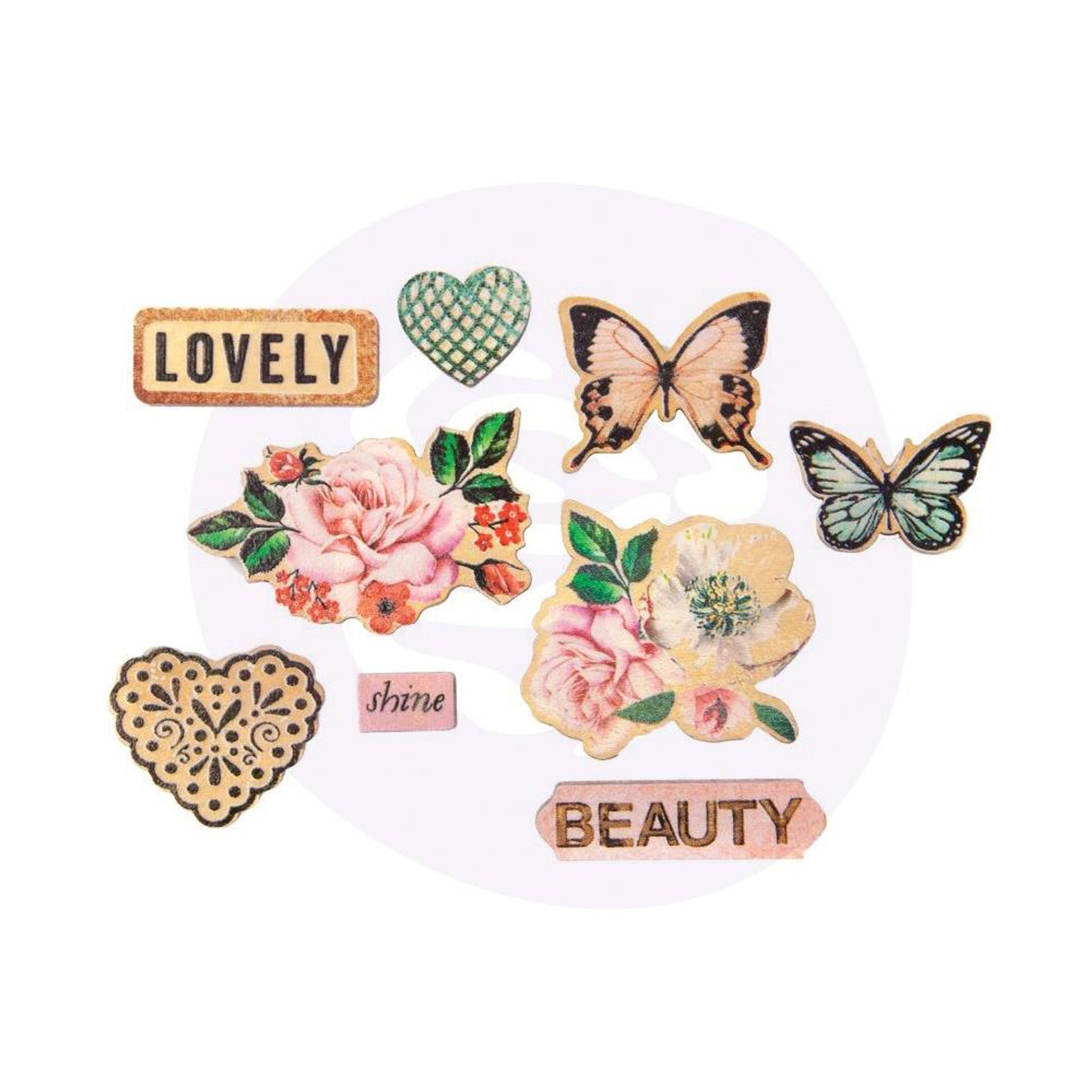 Darice Wooden Shapes 45//Pkg-Butterfly