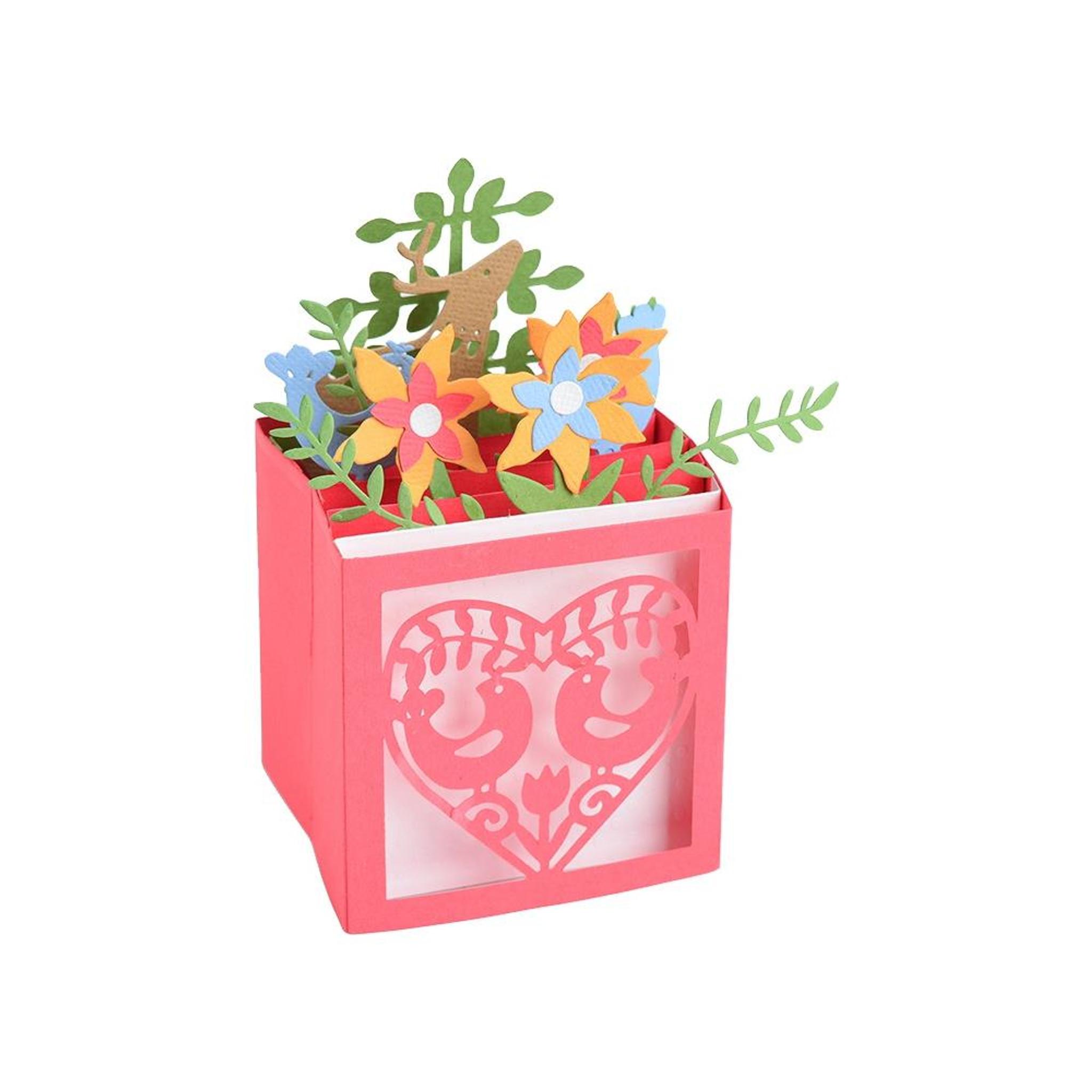 Seasonal Flowers Card Stand Precious Marieke Dies Frame Butterflies Border