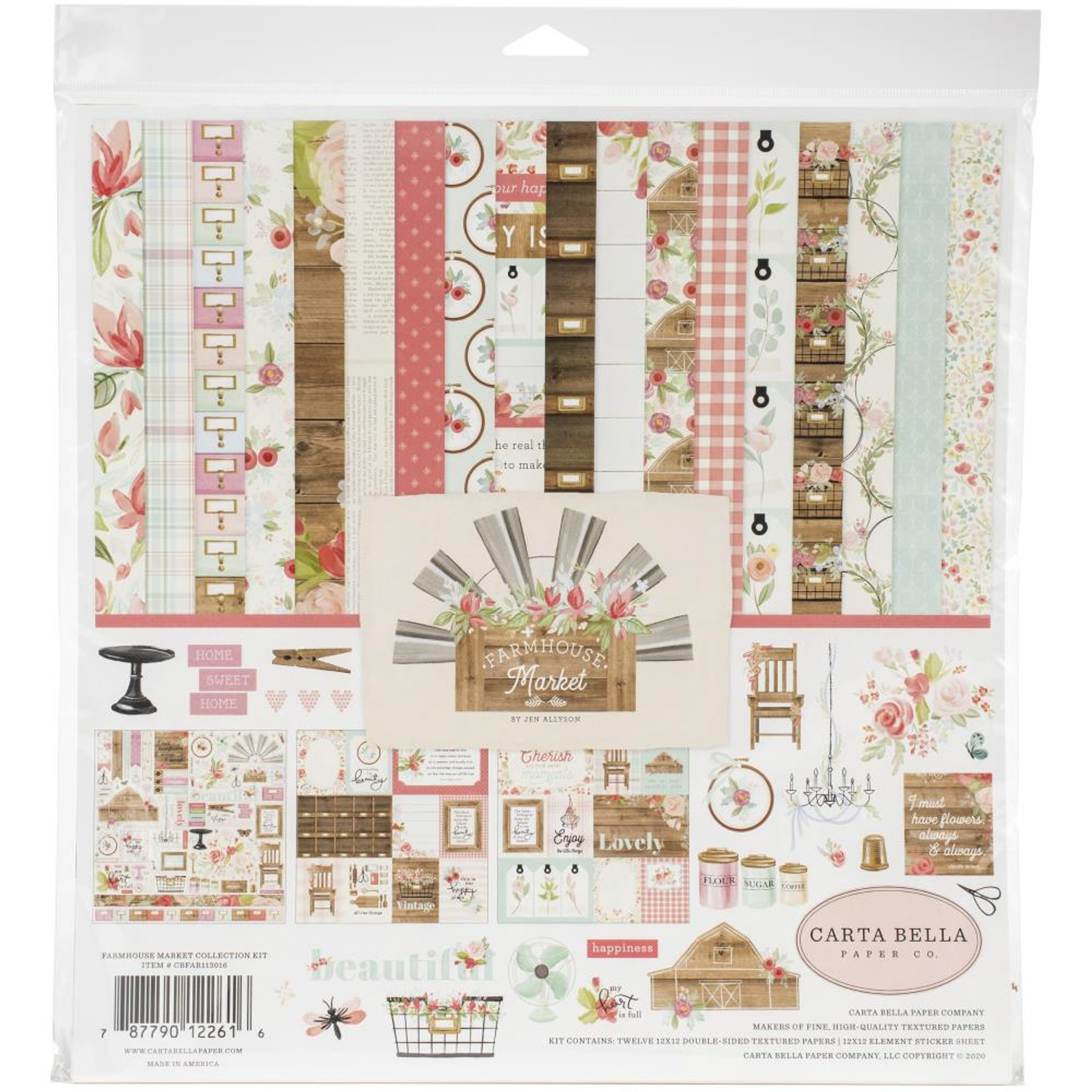 """49 and Market Sand /& Sea Double-Sided Cardstock 12/""""X12/"""" 1x Scrapbooking Papier"""