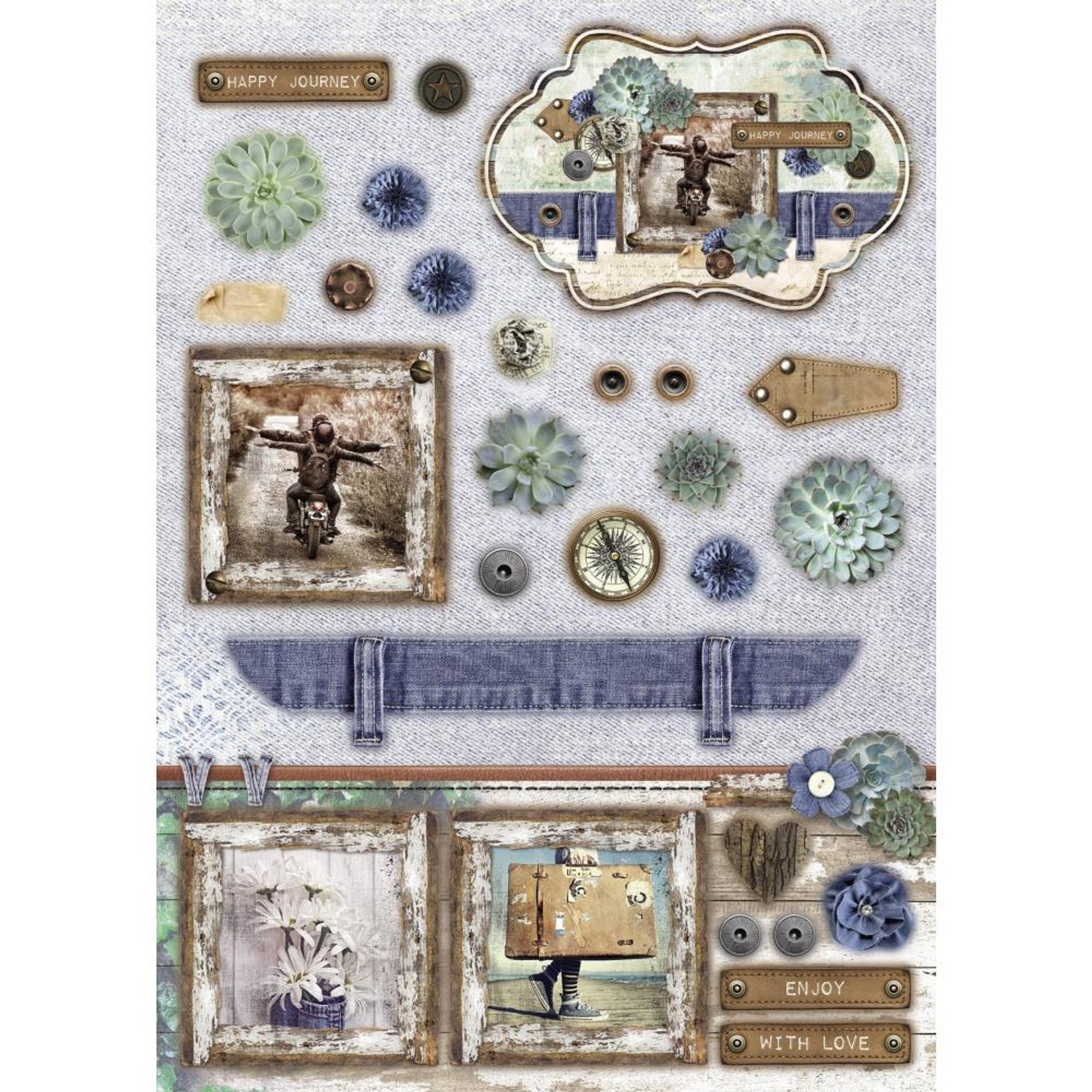 Denim Saturdays Makes 12 Cards Studio Light A4 Die-Cut Block