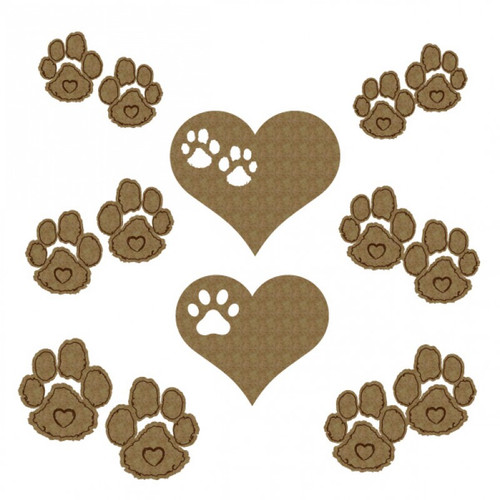 Creative Embellishments - Chipboard - Paw Prints