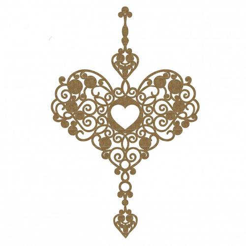 Creative Embellishments - Chipboard - Heart Dangle