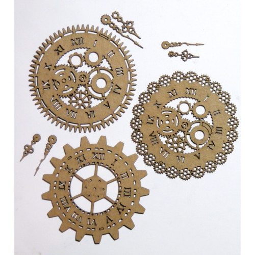 Creative Embellishments - Chipboard - Steampunk Mini Timepieces