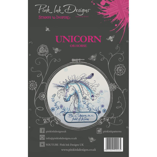 Pink Ink Designs - A5 Clear Stamp Set - Unicorn ( PI007)
