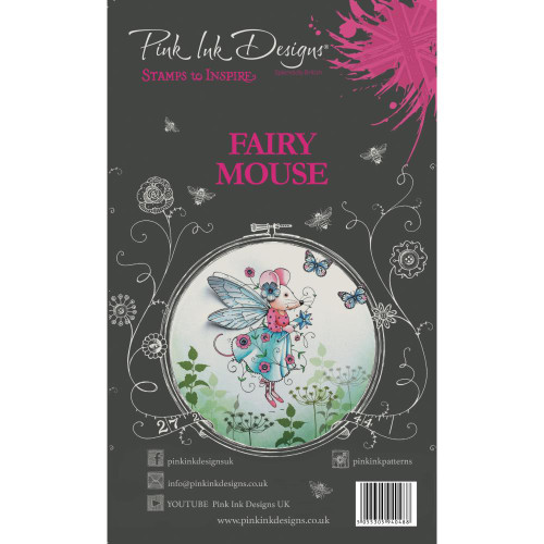 Pink Ink Designs - A5 Clear Stamp Set - Fairy Mouse ( PI008)