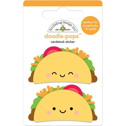 Doodlebug - Doodle-Pops 3D Stickers - Taco-Bout Fun (DP6043)