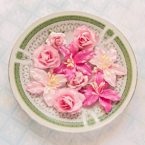 Blue Fern Studios - Radiance Flowers - Floral Basics - Pink (FLW FBB 685178)