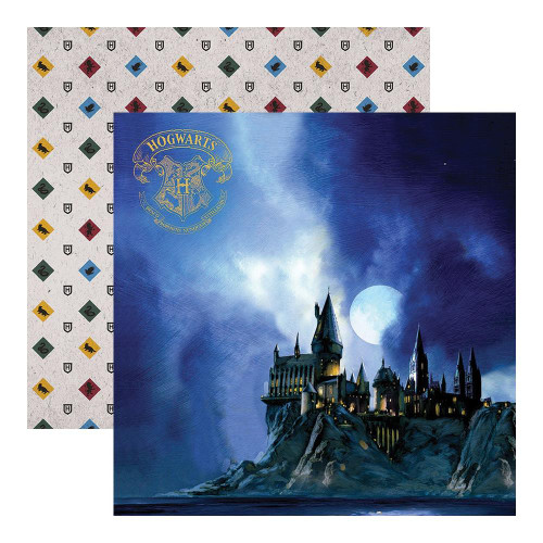 Paper House - Double sided Scrapbook Paper - Harry Potter - Hogwarts At Night (PGLHP12 2046E)