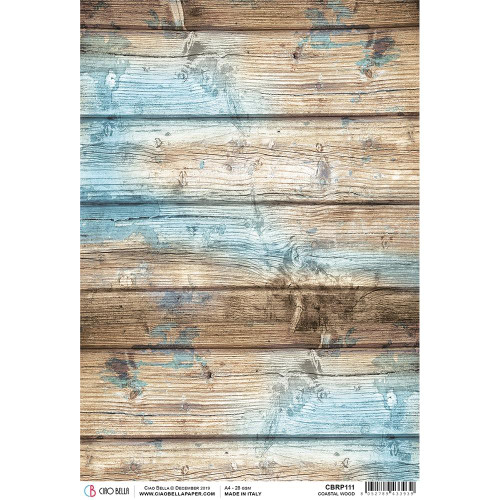 Ciao Bella - Decoupage Rice Paper Sheet - Coastal Wood (CBRP111)