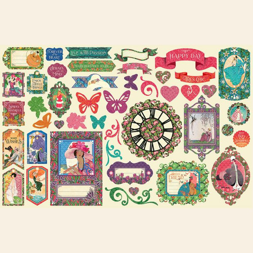 IN STOCK Graphic 45 Catch of the Day Ephemera Die Cut Assortment 48 pieces