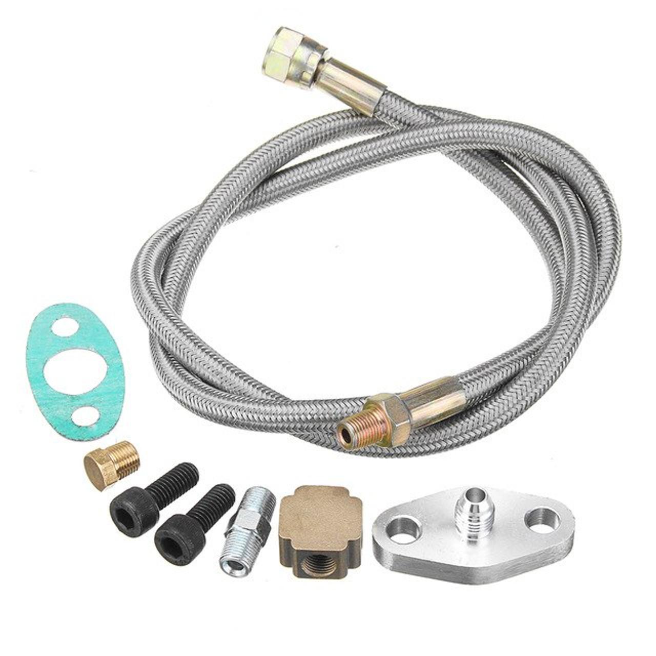 TPS - Universal Braided Stainless Steel Turbo Oil Feed Line Kit