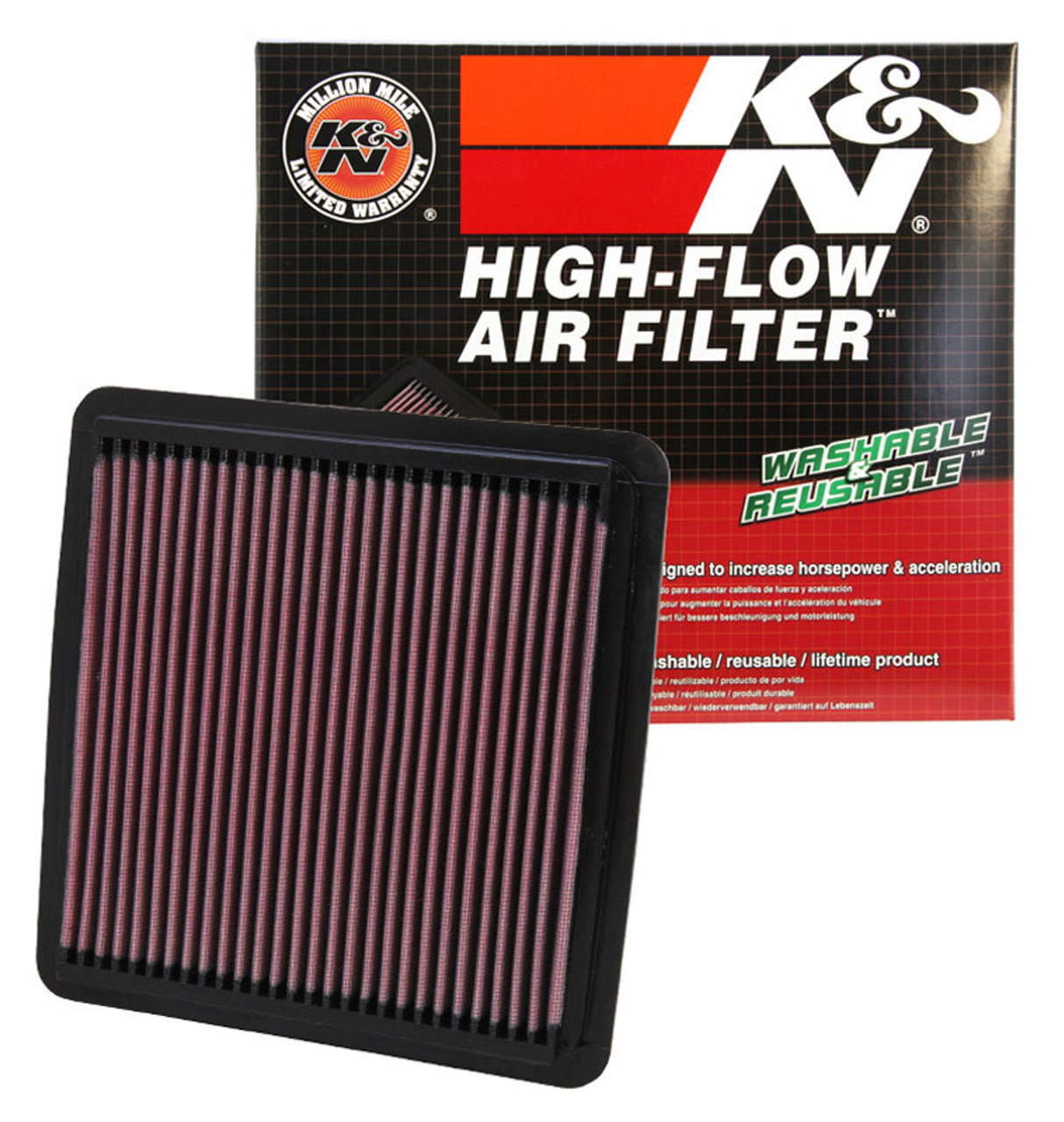 K/&N Filters Fits 2010-2017 Toyota Lexus Hi-Flow Air Intake Filter