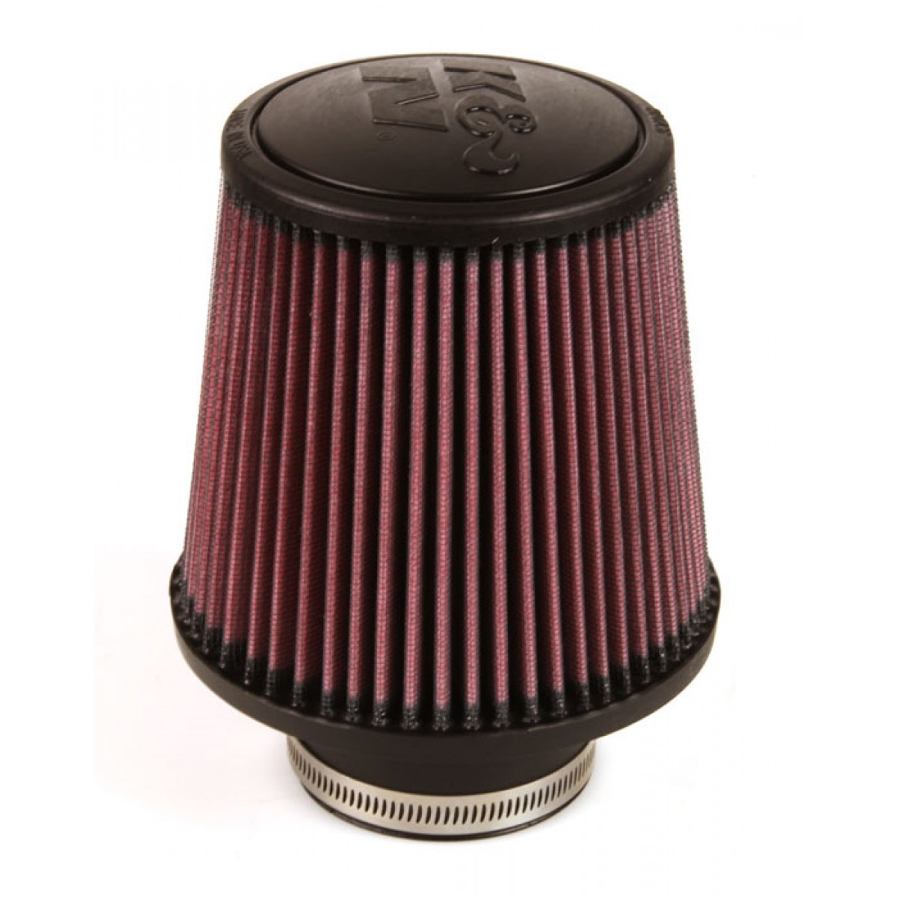 """RED UNIVERSAL 3/"""" TALL FLANGE AIR FILTER FOR INFINITI AIR INTAKE+PIPE"""