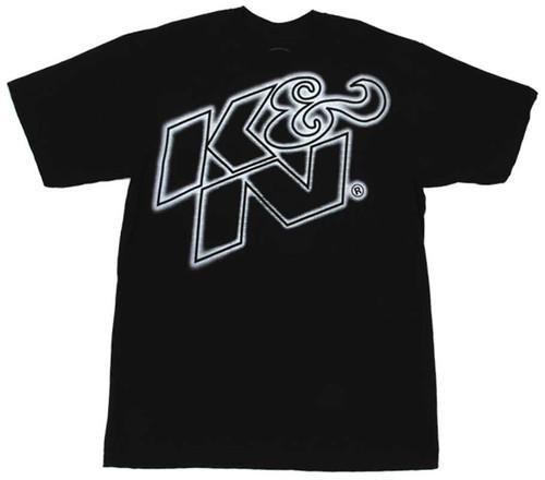 K&N T-Shirt - Black XXL (Blue logo)