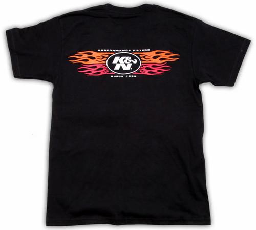 K&N T-Shirt - Black XXL (red logo)