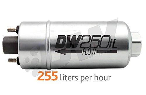 DeatschWerks  DW250iL 250LPH In-Line External Fuel Pump W/ Mounting Brackets - Universal
