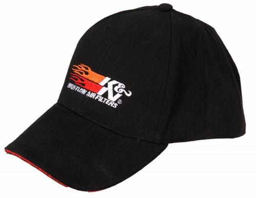 88-12062 K&N Flames Logo Hat - Black
