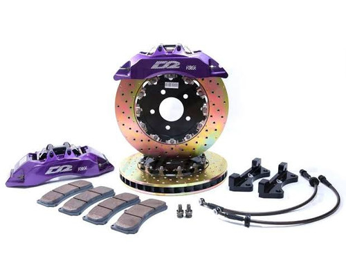 D2 Racing front Drilled & Slotted brake kit
