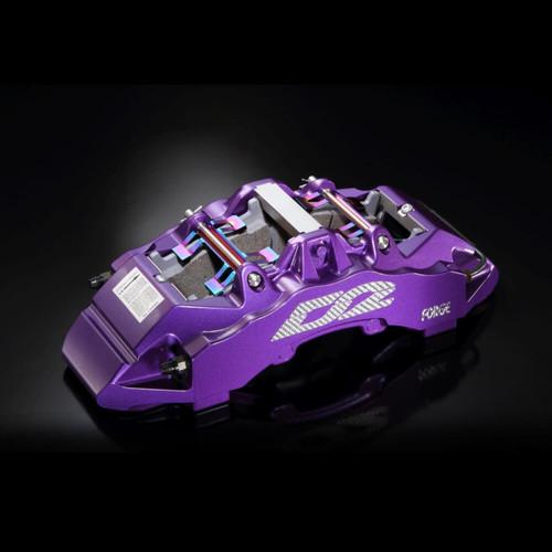 D2 Racing Front Brake Kit 4 POT Street Caliper 304X28mm for Mitsubishi EVO 1-3 92~96