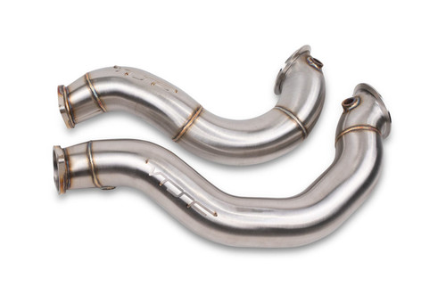 VRSF 3″ Cast Stainless Steel Catless Downpipes BMW 07-10 N54 V2 335i / BMW 08-12 135i - BRUSHED FINISH - CATLESS RACE DOWNPIPE