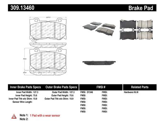 309.13460 StopTech Street Performance Front Brake Pads - Nissan, Infiniti