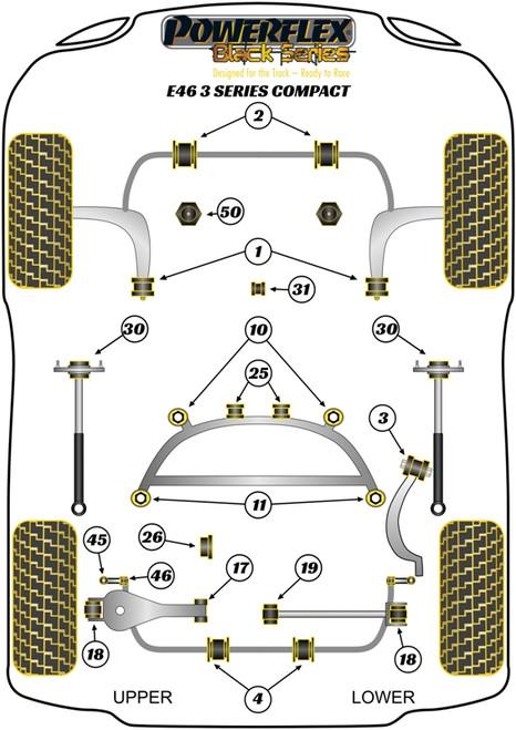 PFR5-4626BLK Powerflex Rear Diff Rear Bush