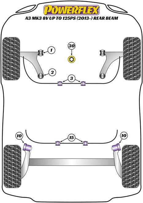 PFF85-832 Poweflex Lower Engine Mount (Large) Insert