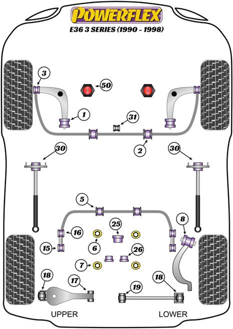 PFR5-326 Powerflex Rear Diff Rear Mounting Bush