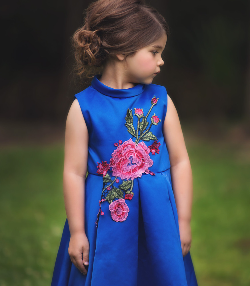 BARDOT DRESS-ROYAL BLUE