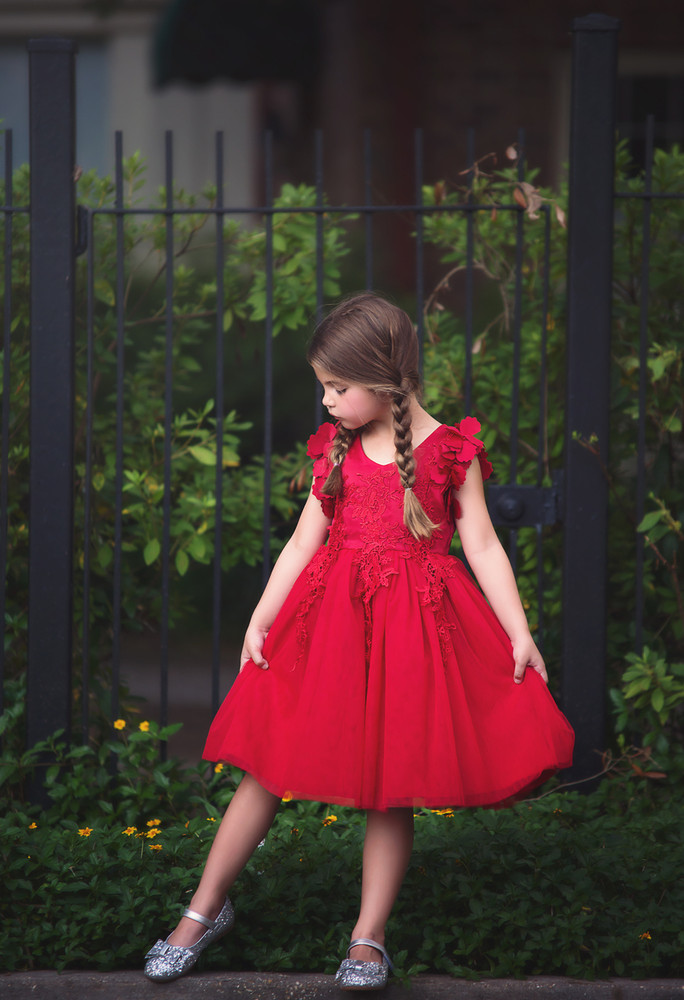 BIANCA DRESS CRIMSON