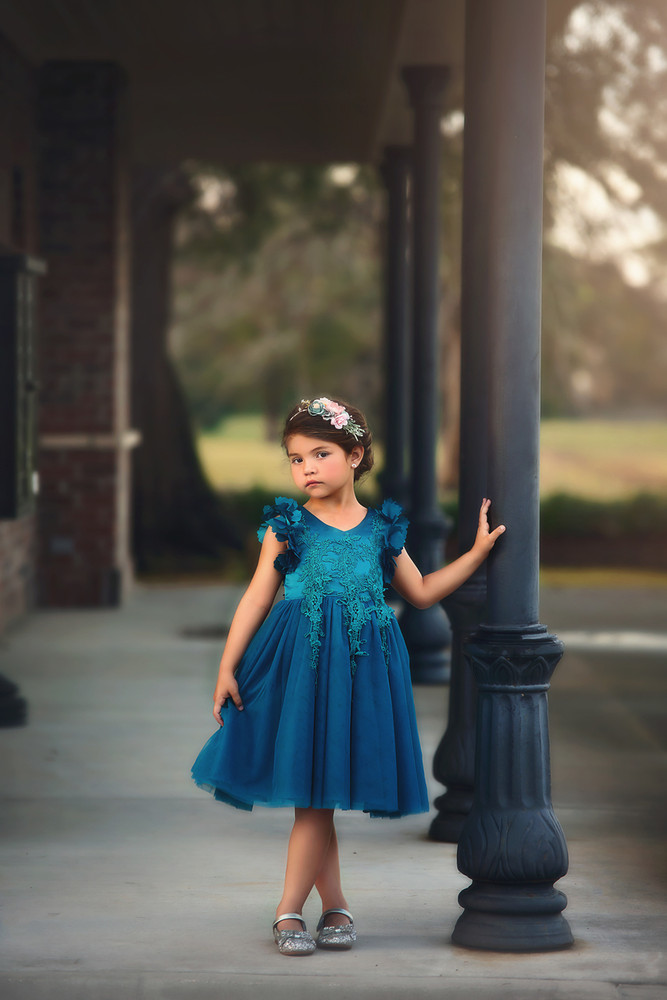 BIANCA DRESS TEAL