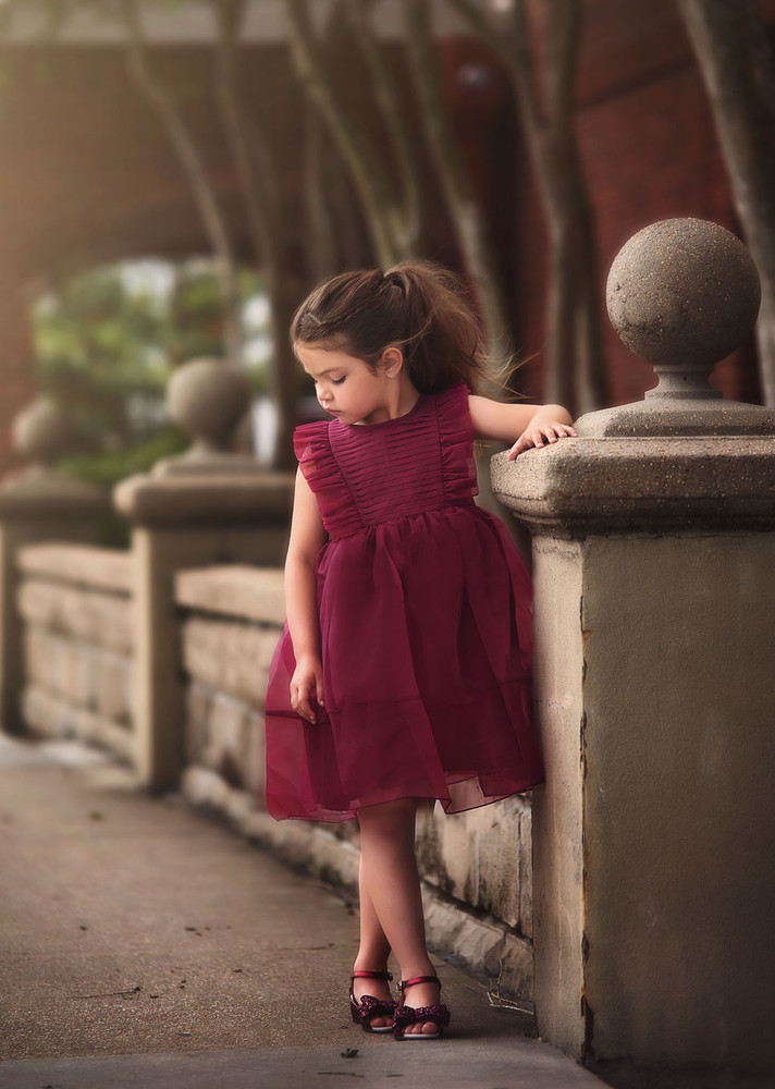 ALICE DRESS BURGUNDY