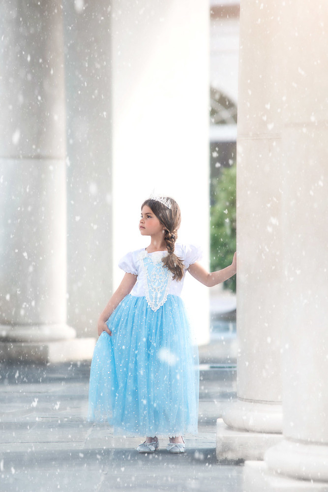 """""SNOW PRINCESS GOWN & CAPE SET"""""