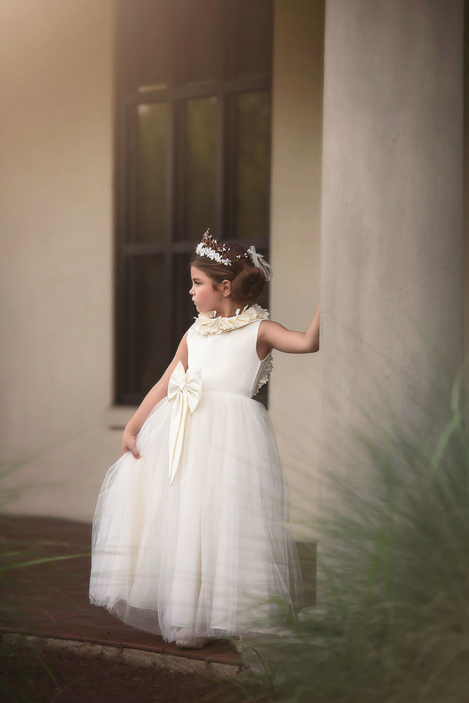 282840245 AERALINA GOWN IVORY'' - Trish Scully Child