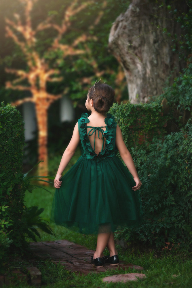 AERALINA DRESS EMERALD