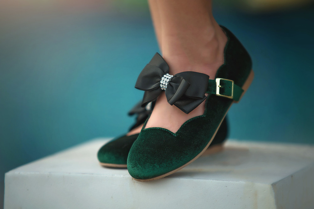 KATELYN SHOE EMERALD VELVET