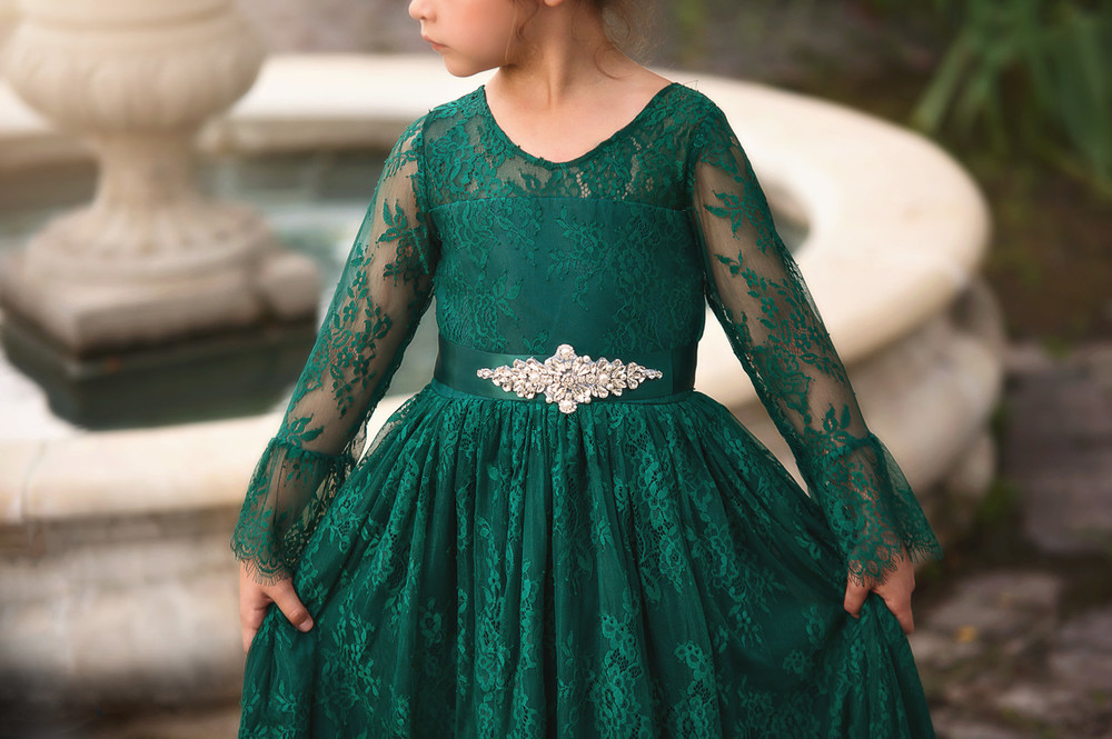 """AINSLEY DRESS & BELT SET EMERALD"""