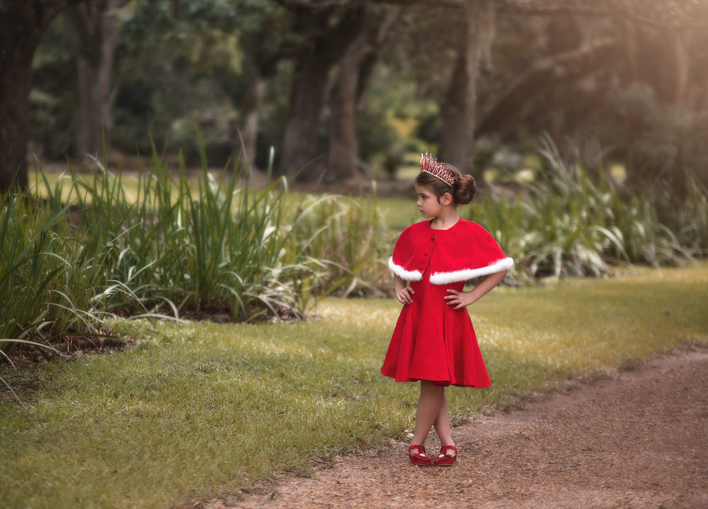 """KATERINA DRESS & CAPE SET RED"""