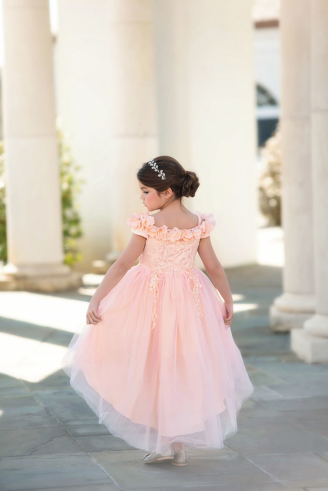 """BELLE GOWN PEACHY PINK"""
