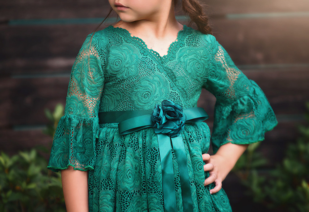 GISELA DRESS & BELT SET EMERALD